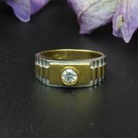 圖示-鑽石經典黃白K金戒指(Diamond Ring)