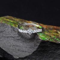 圖示-白K金鑽石戒指 | DiaR06