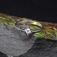 圖示-白K金鑽石戒指 | DiaR08