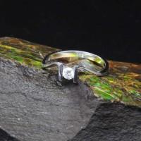 圖示-白K金鑽石戒指 | DiaR09