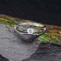 圖示-白K金鑽石戒指 | DiaR12