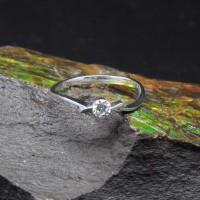 圖示-白K金鑽石戒指 | DiaR14
