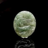 圖示-翡翠/祥龍獻瑞玻璃種吊墜(Jadeite Pendant)