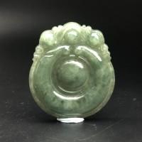 圖示-翡翠玻冰種/如意吊墜(Jadeite Pendant)