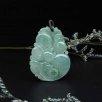 圖示-翡翠玻璃種/如意吊墜(Jadeite Pendant)