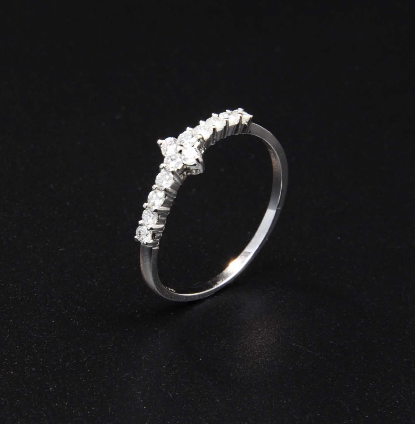 白K金鑽石戒指   DiaR06