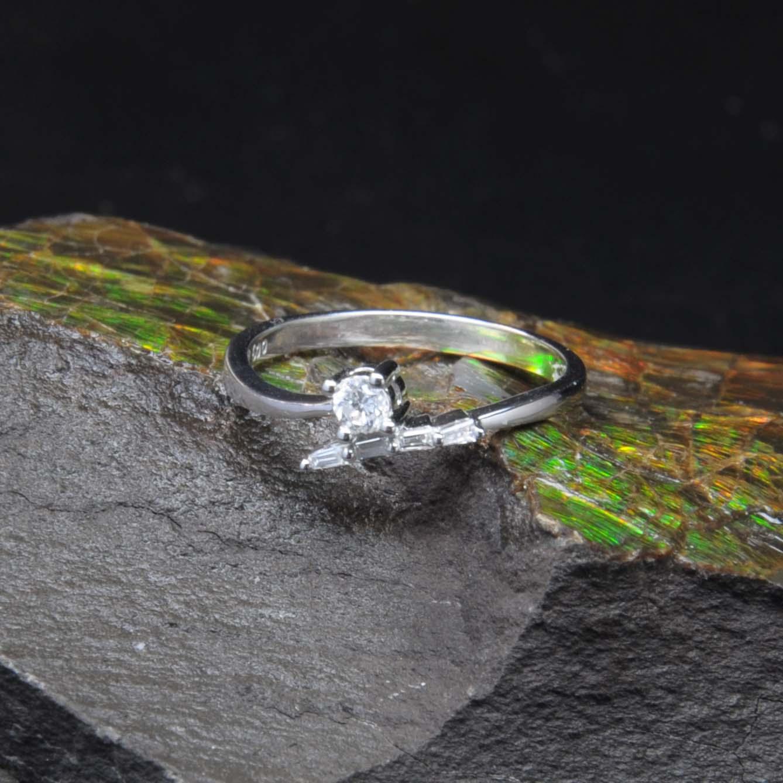 白K金鑽石戒指 | DiaR07