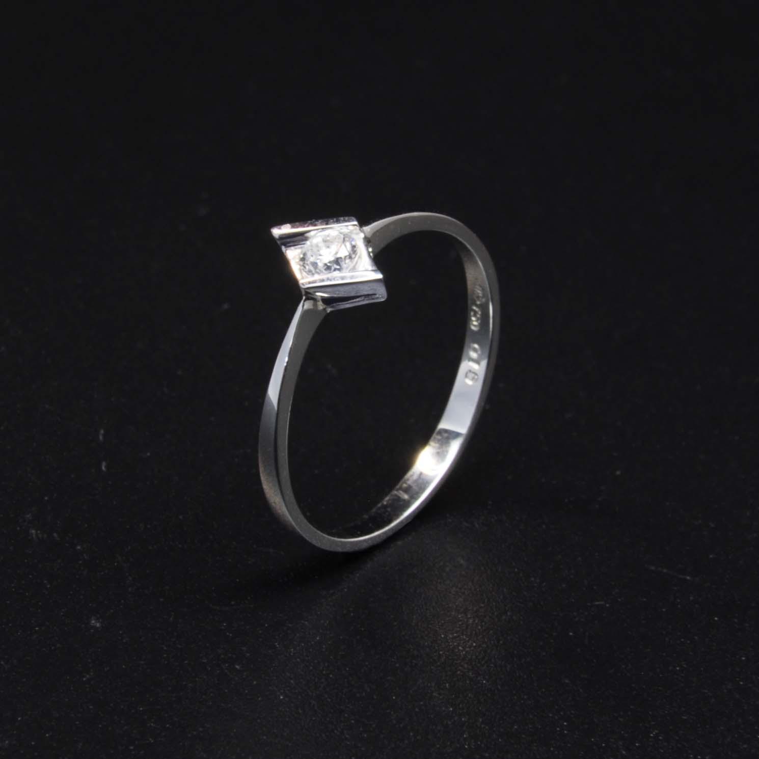 白K金鑽石戒指 | DiaR08