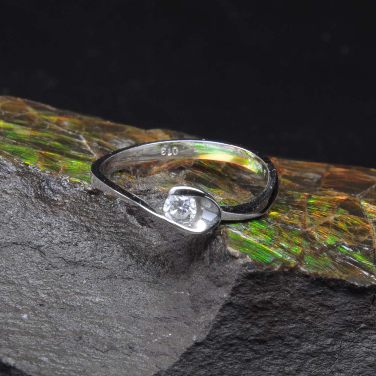 白K金鑽石戒指 | DiaR11