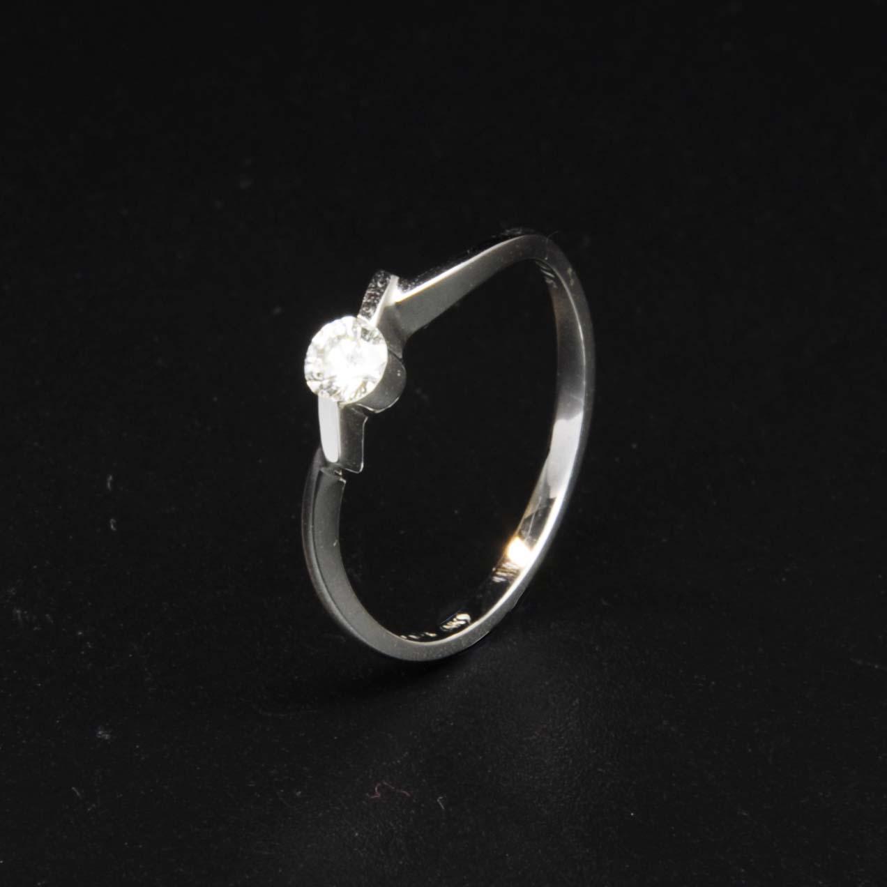 白K金鑽石戒指   DiaR14