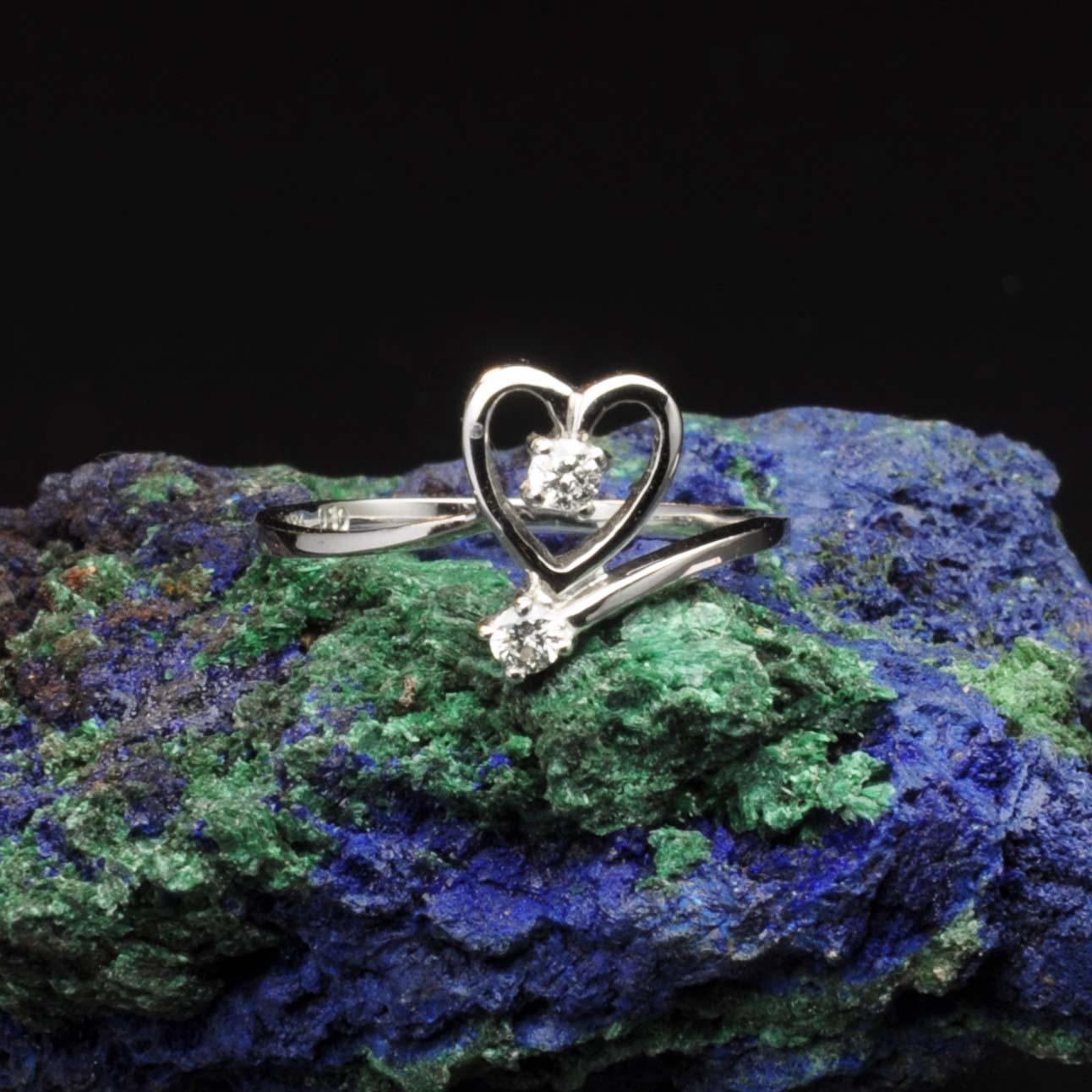 圖示-白K金鑽石戒指 | DiaR17