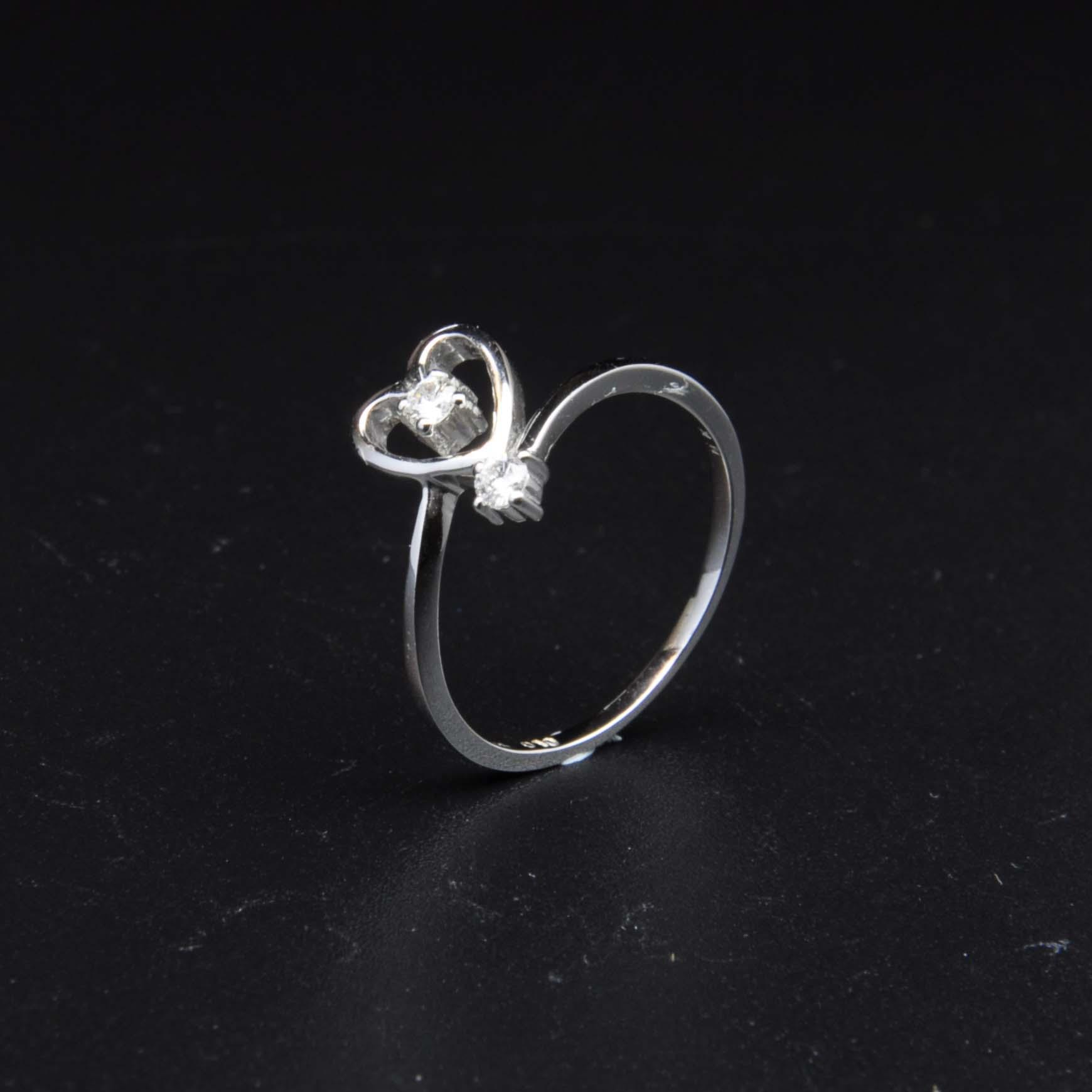 白K金鑽石戒指   DiaR17