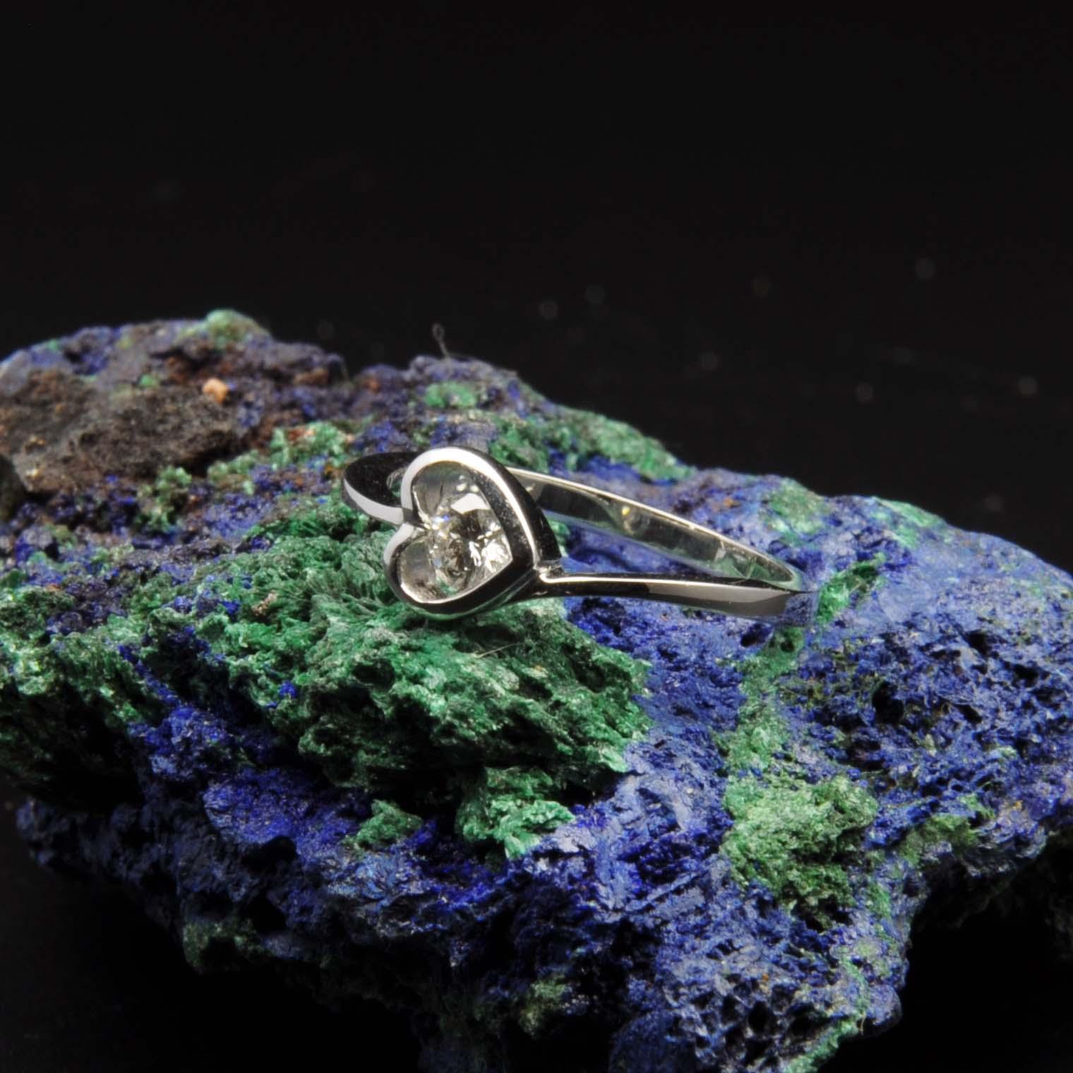 圖示-白K金鑽石戒指 | DiaR18