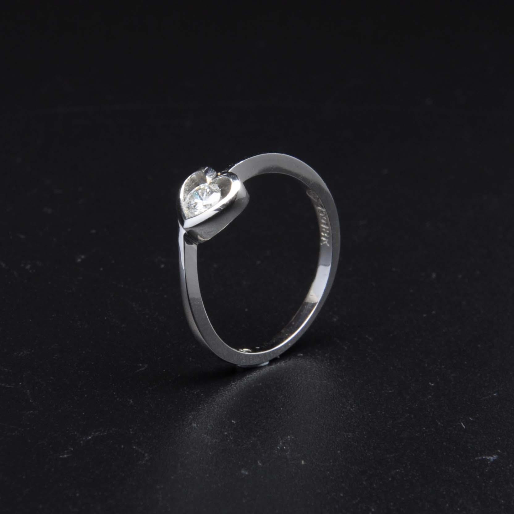 白K金鑽石戒指 | DiaR18