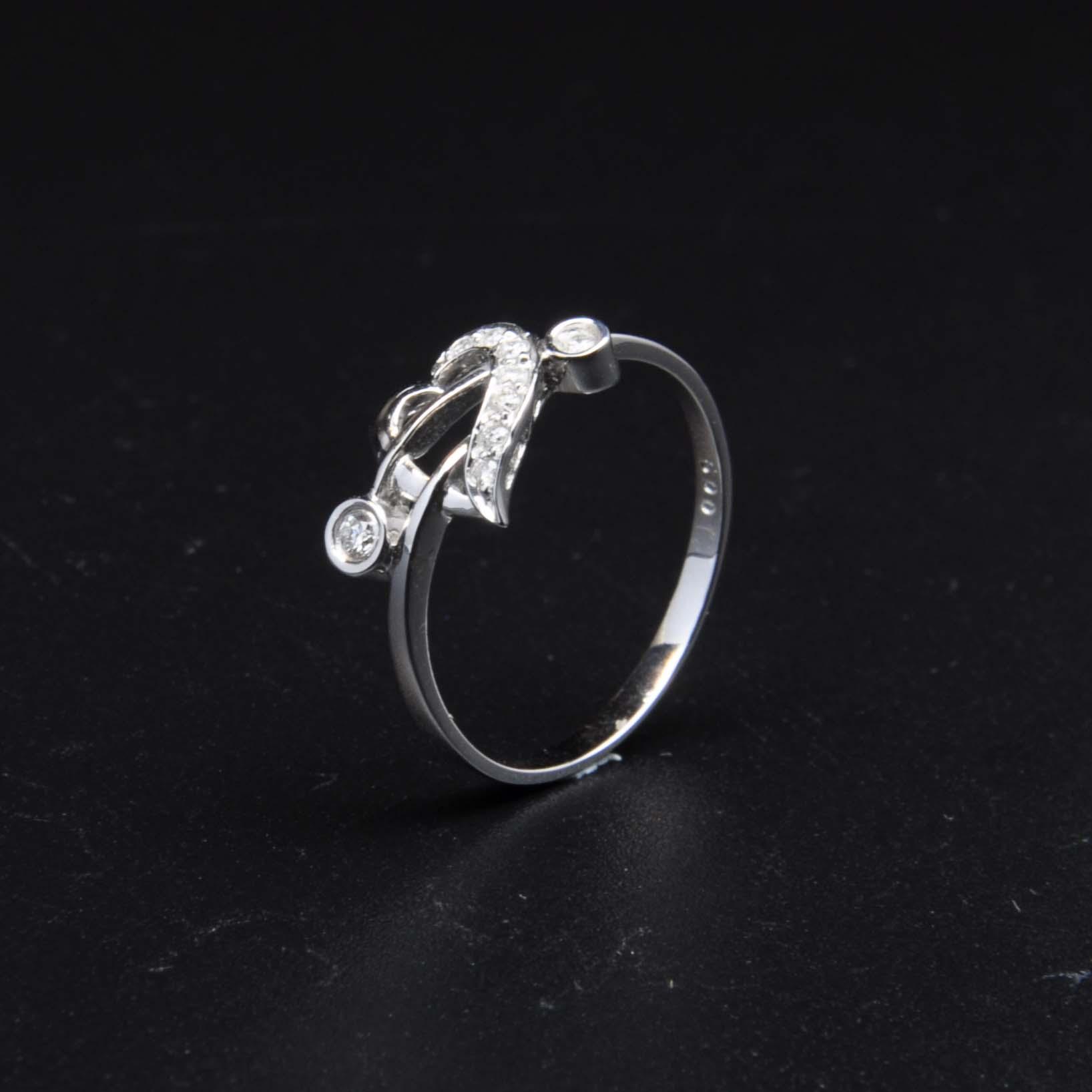 白K金鑽石戒指   DiaR19