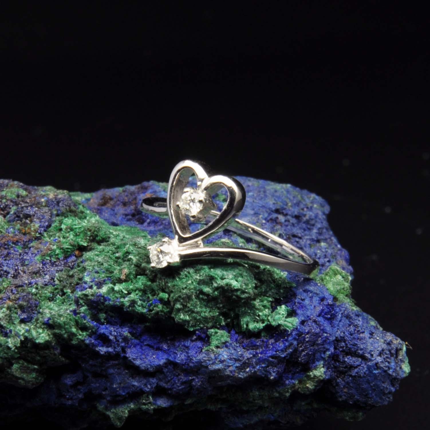 圖示-白K金鑽石戒指 | DiaR20