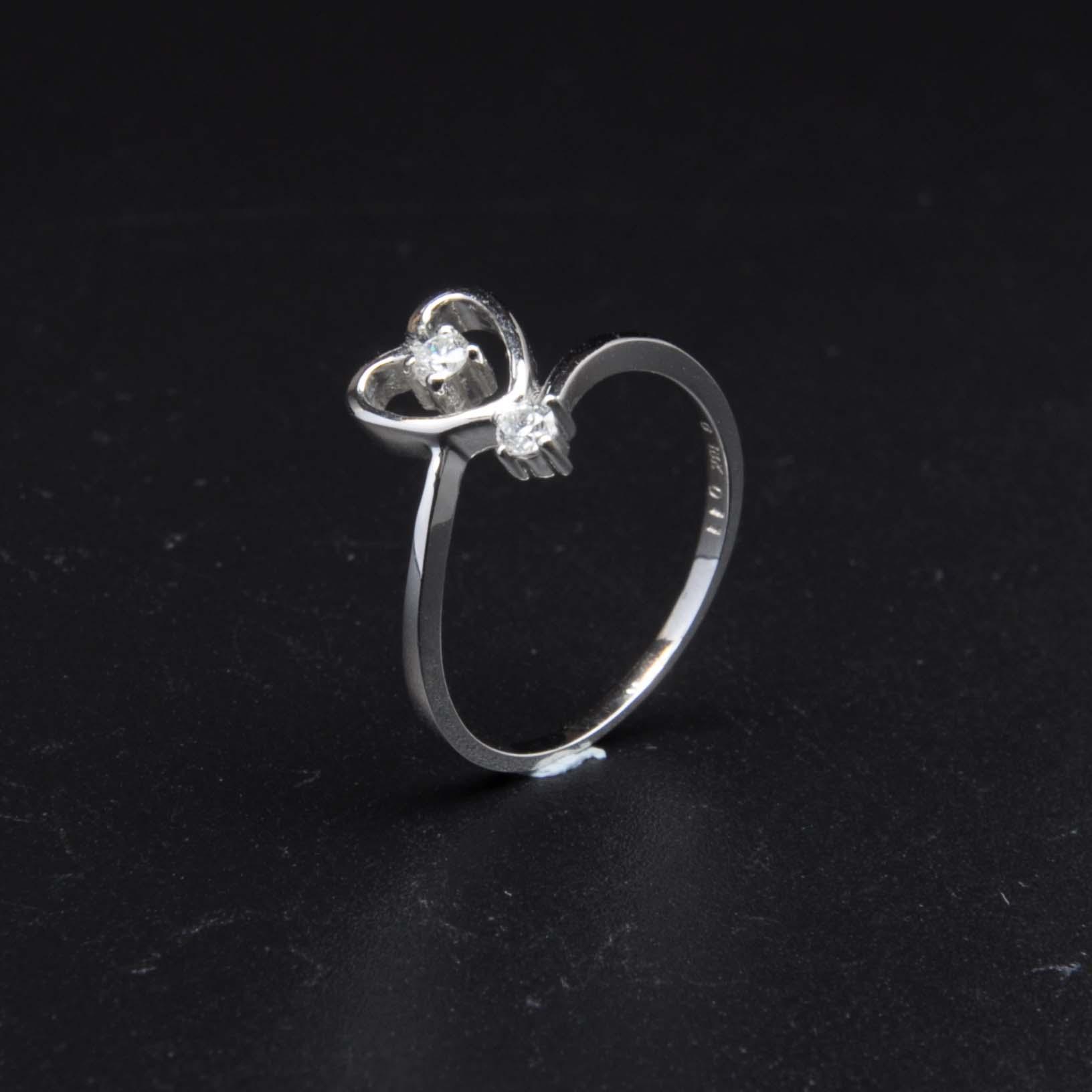白K金鑽石戒指 | DiaR20