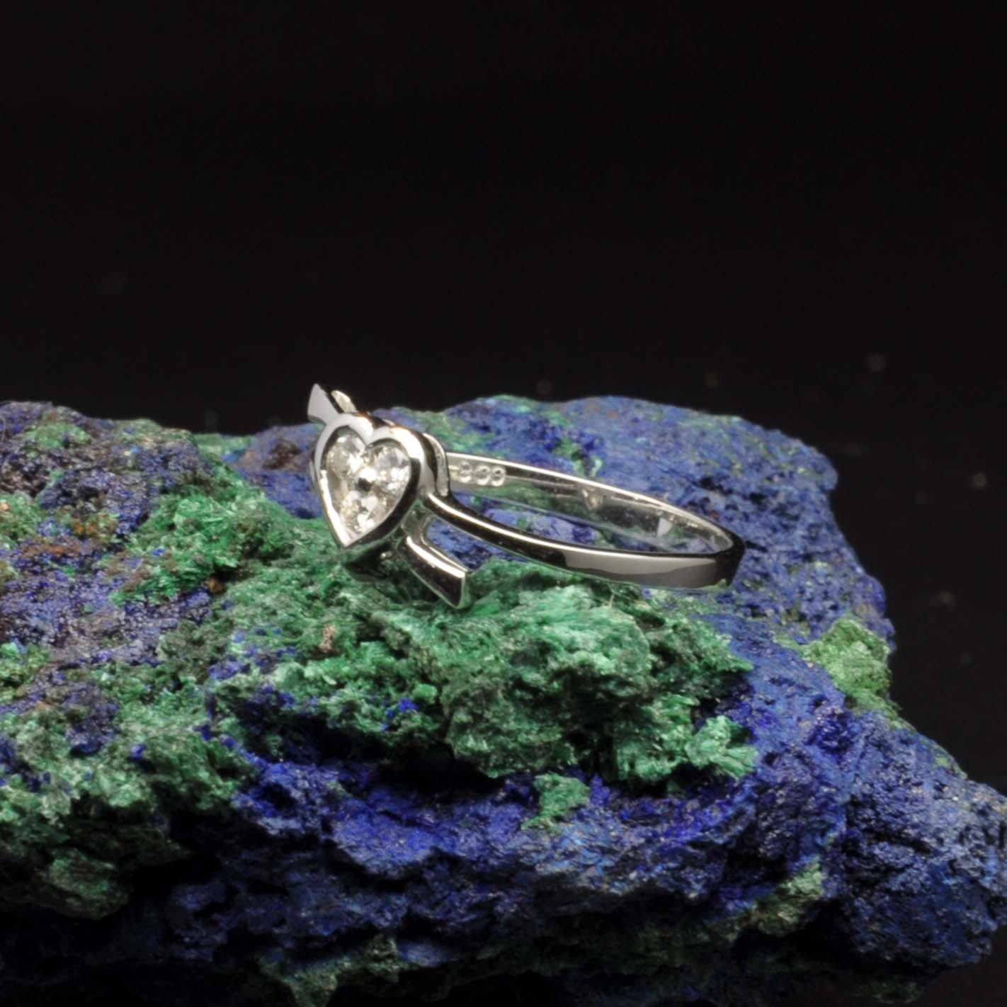 圖示-白K金鑽石戒指 | DiaR21