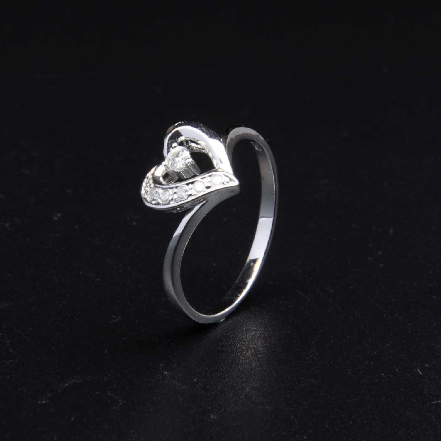 白K金鑽石戒指 | DiaR22
