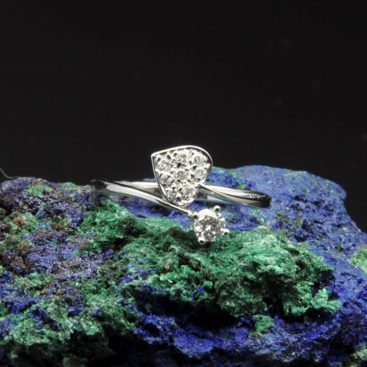 圖示-白K金鑽石戒指 | DiaR23