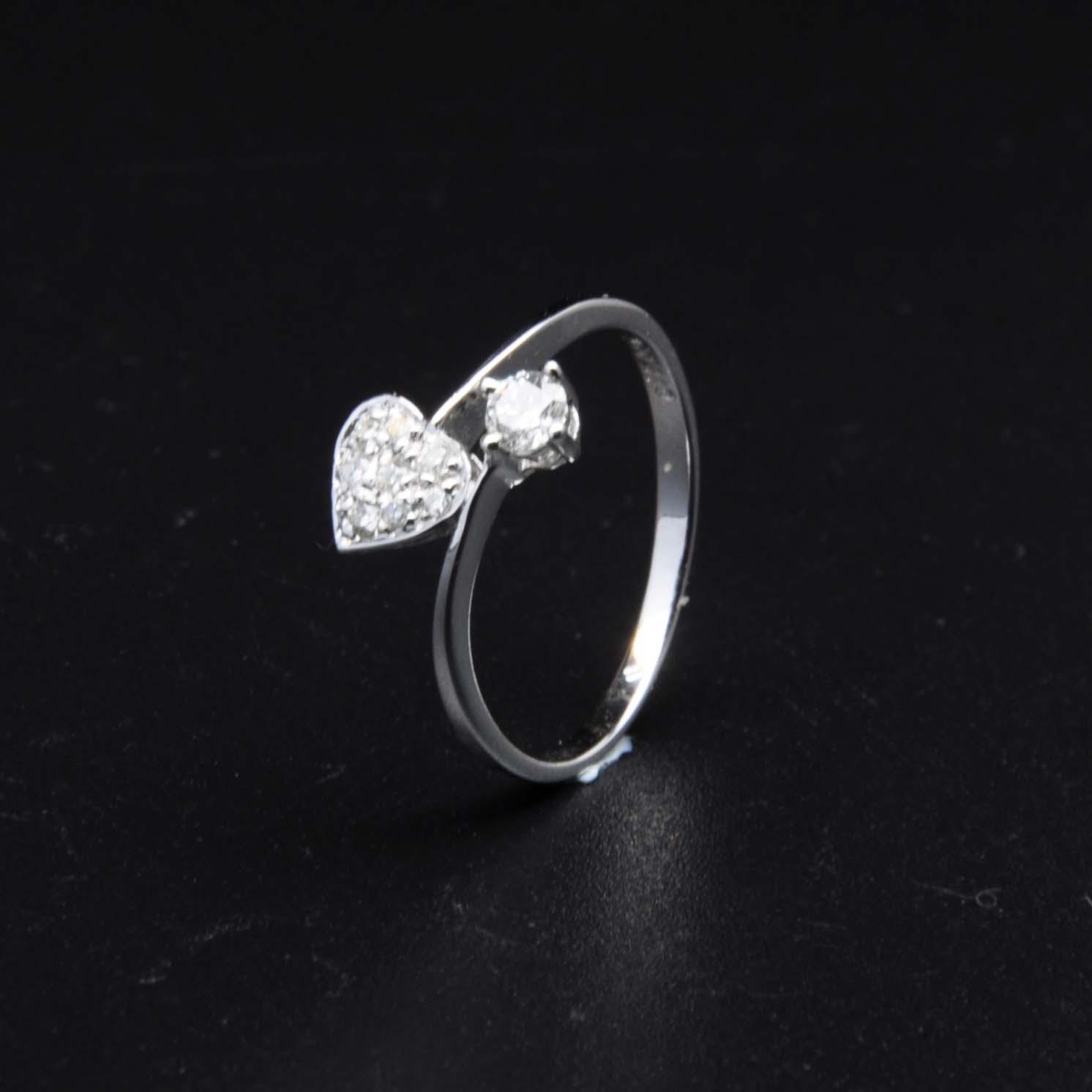 白K金鑽石戒指   DiaR23