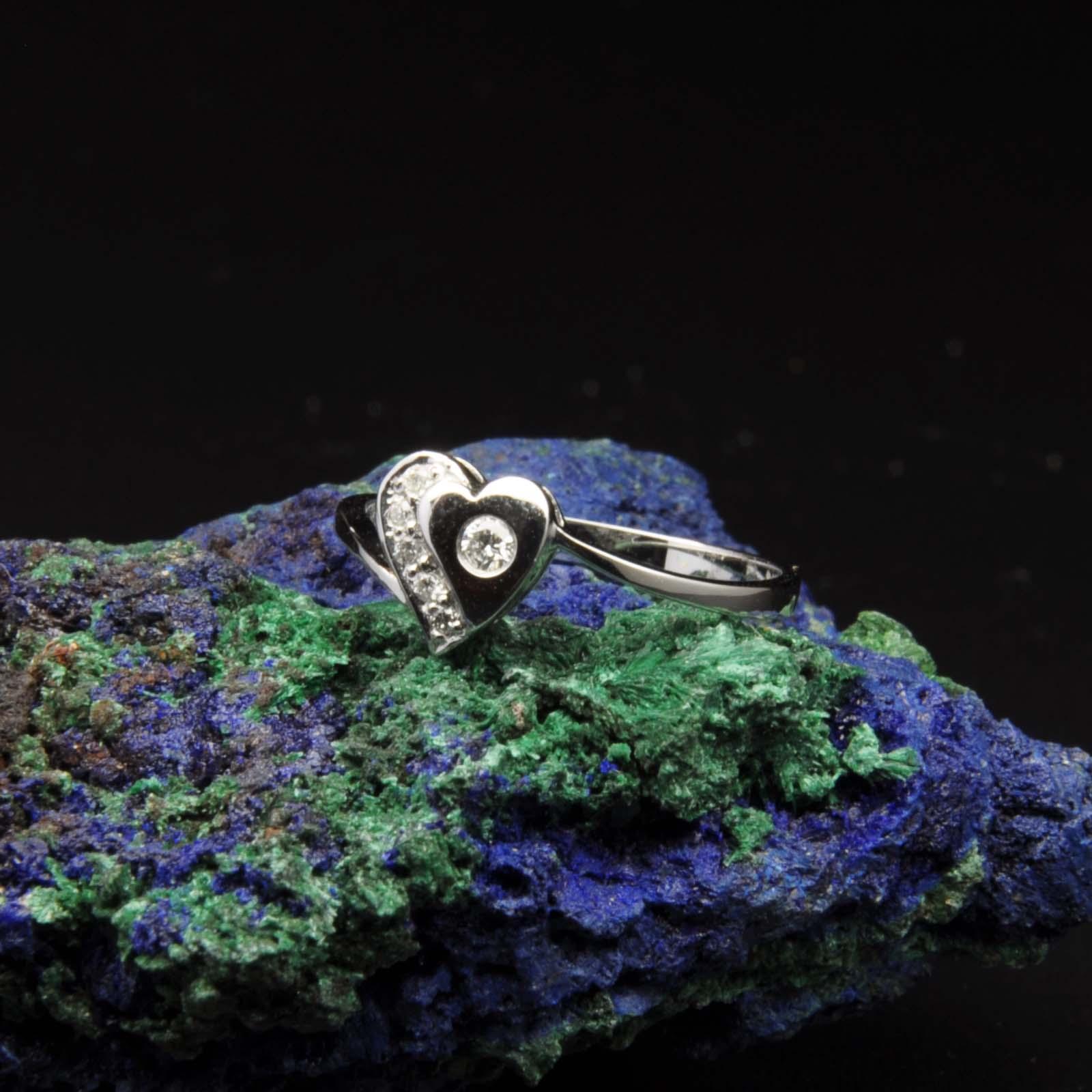 圖示-白K金鑽石戒指 | DiaR24