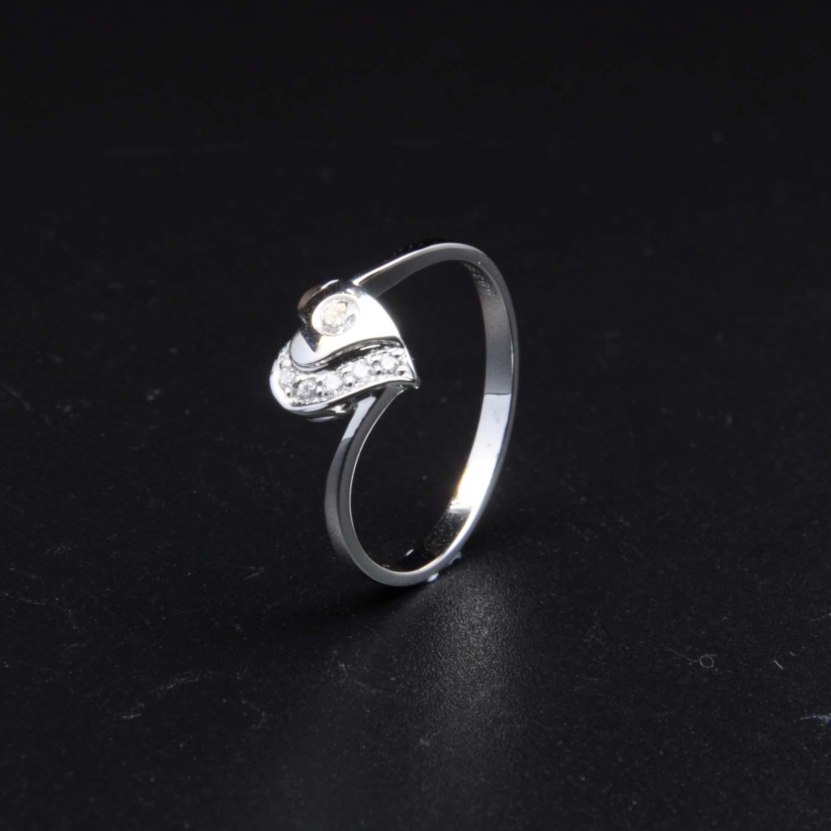 白K金鑽石戒指 | DiaR24