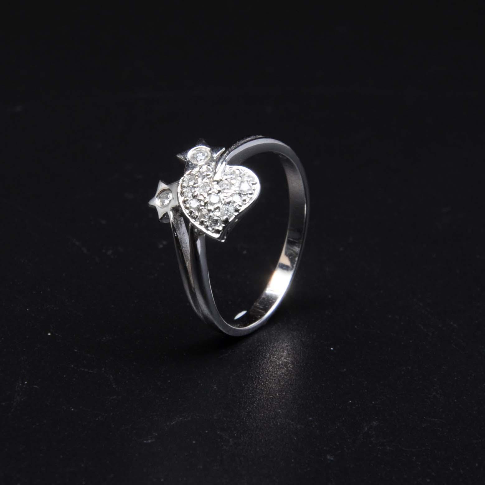 白K金鑽石戒指   DiaR25
