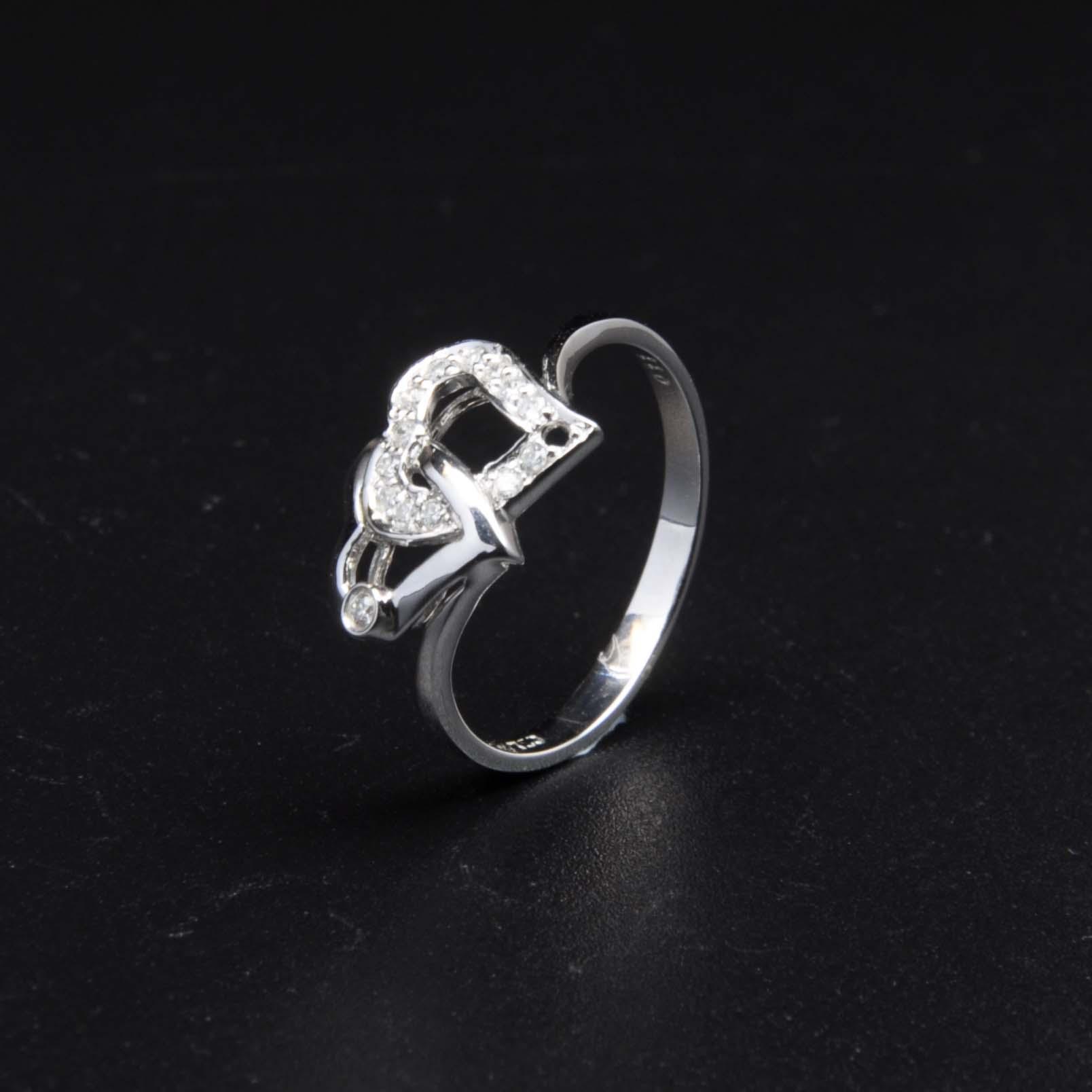 白K金鑽石戒指 | DiaR26