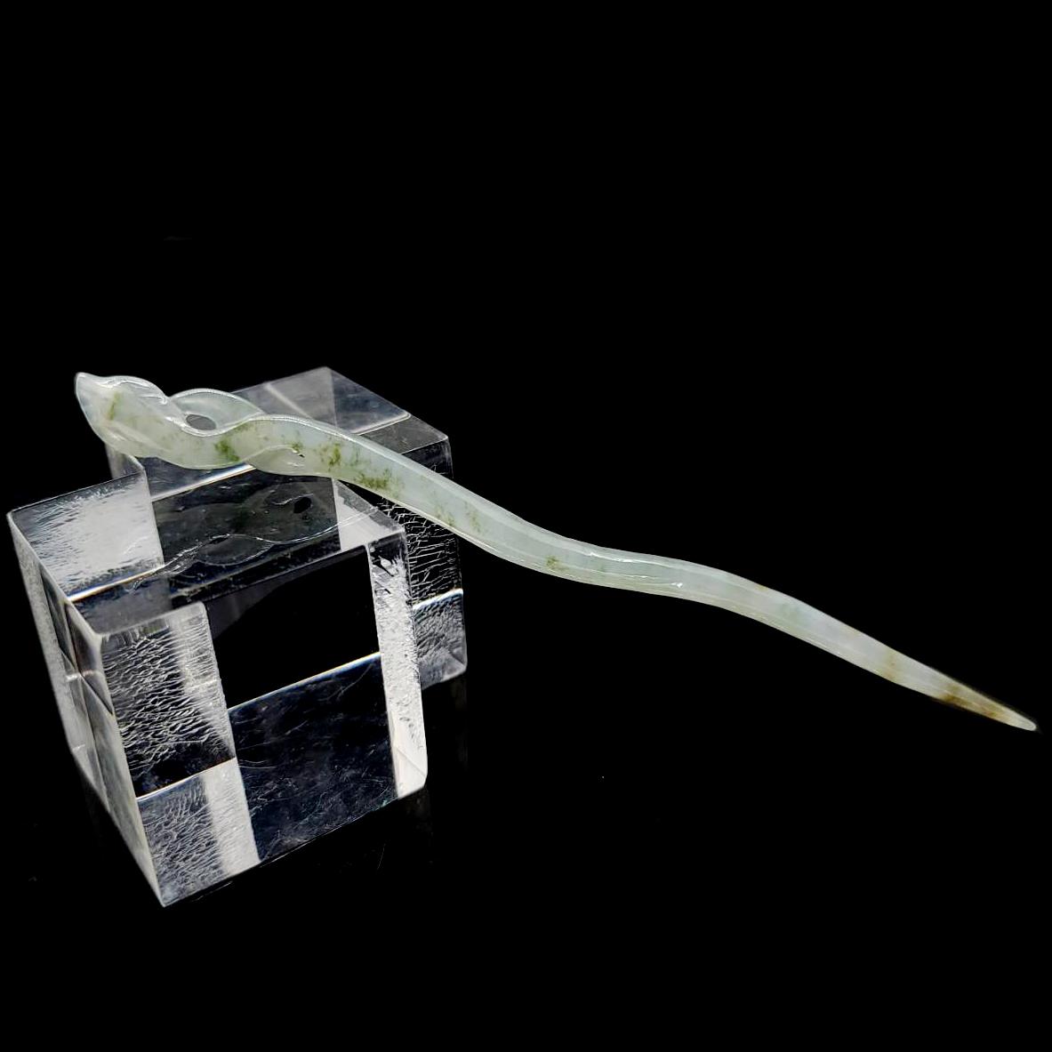 圖示-翡翠冰種髮釵(Jadeite)