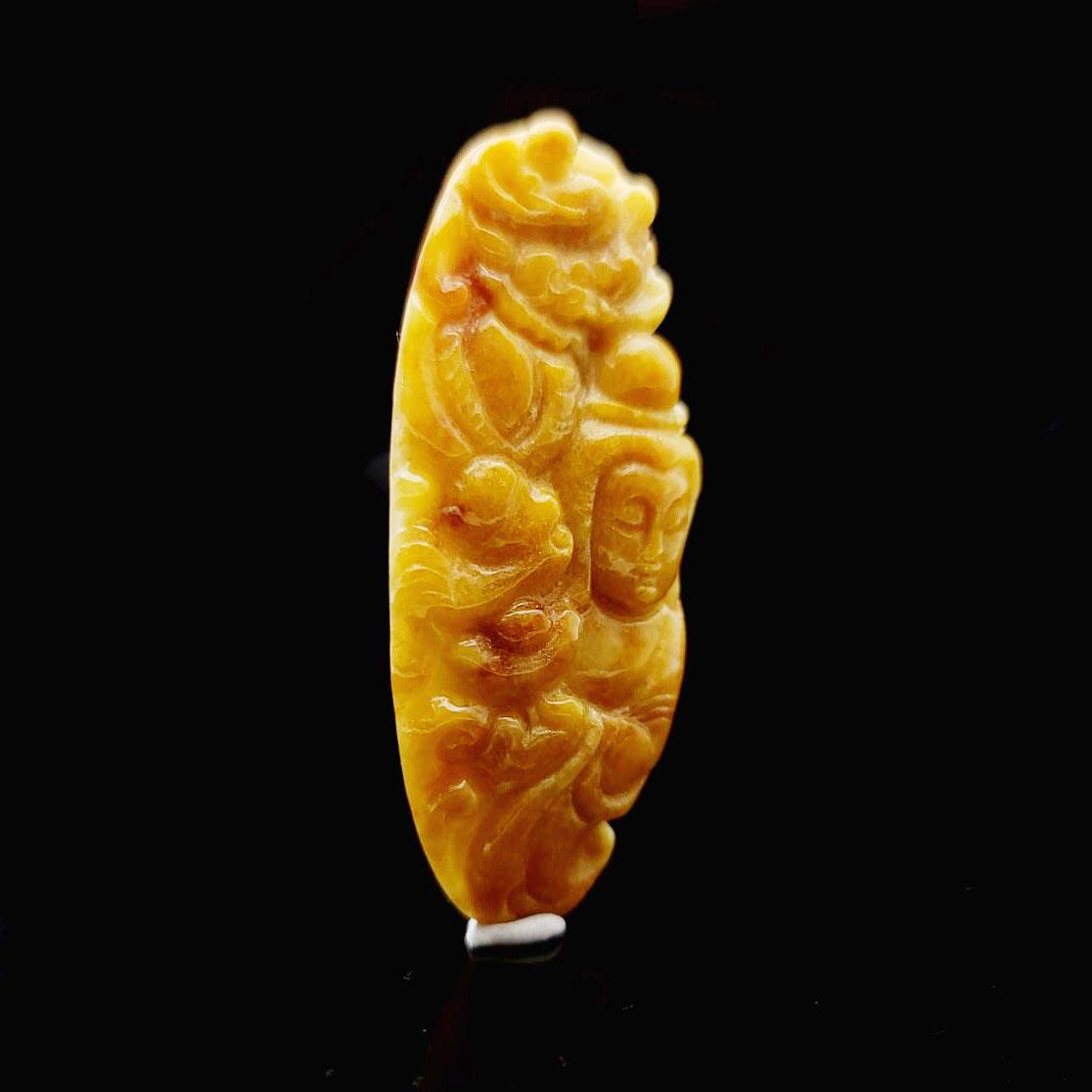 圖示-翡翠/觀音蜜糖黃翡吊墜(Jadeite Pendant)