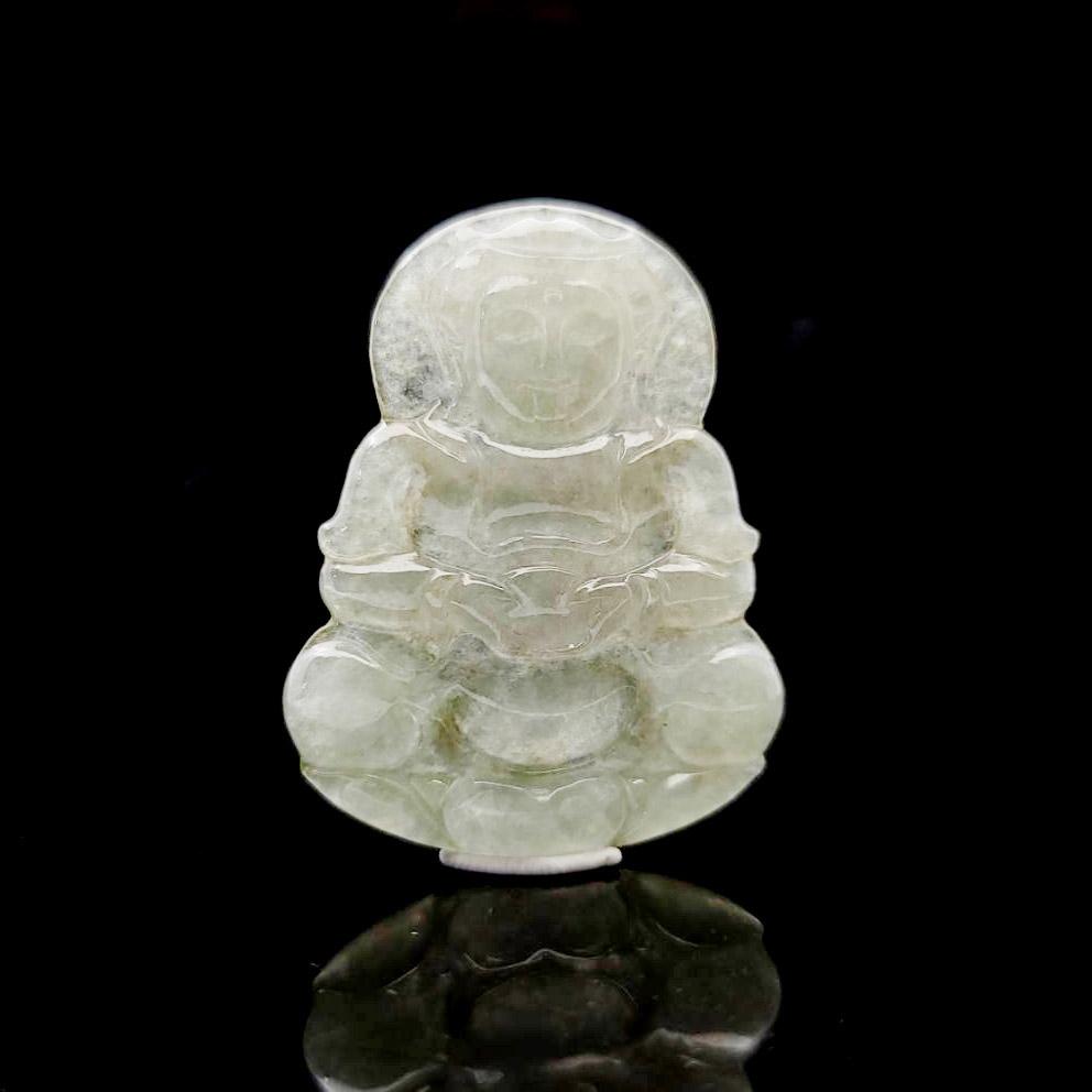 圖示-翡翠/觀音玻冰種吊墜(Jadeite Pendant)