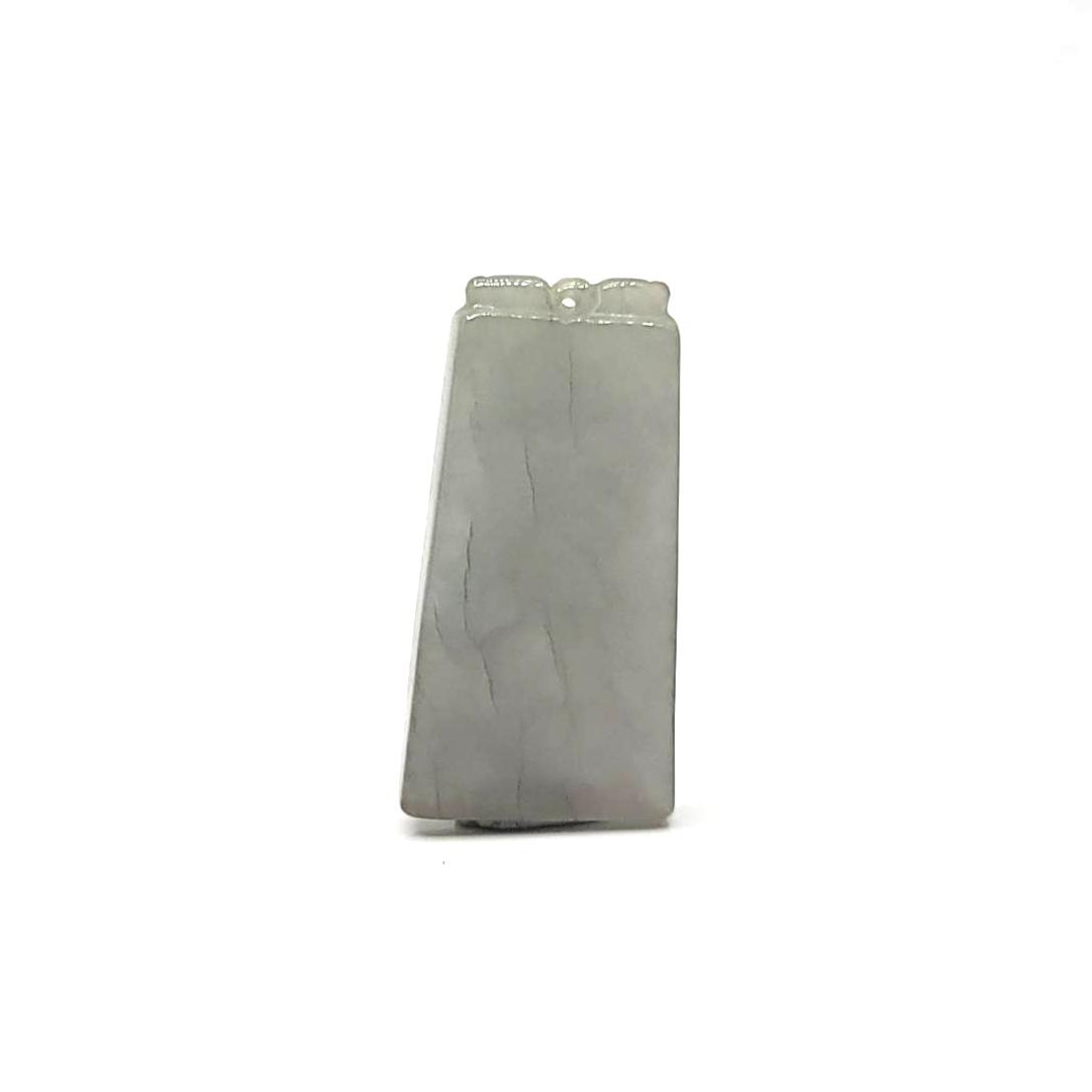 圖示-翡翠/無事牌玻冰種吊墜(Jadeite Pendant)