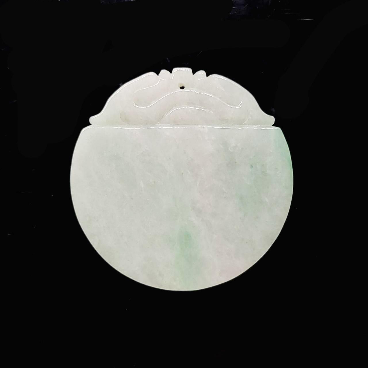 圖示-翡翠/圓牌冰種吊墜(Jadeite Pendant)