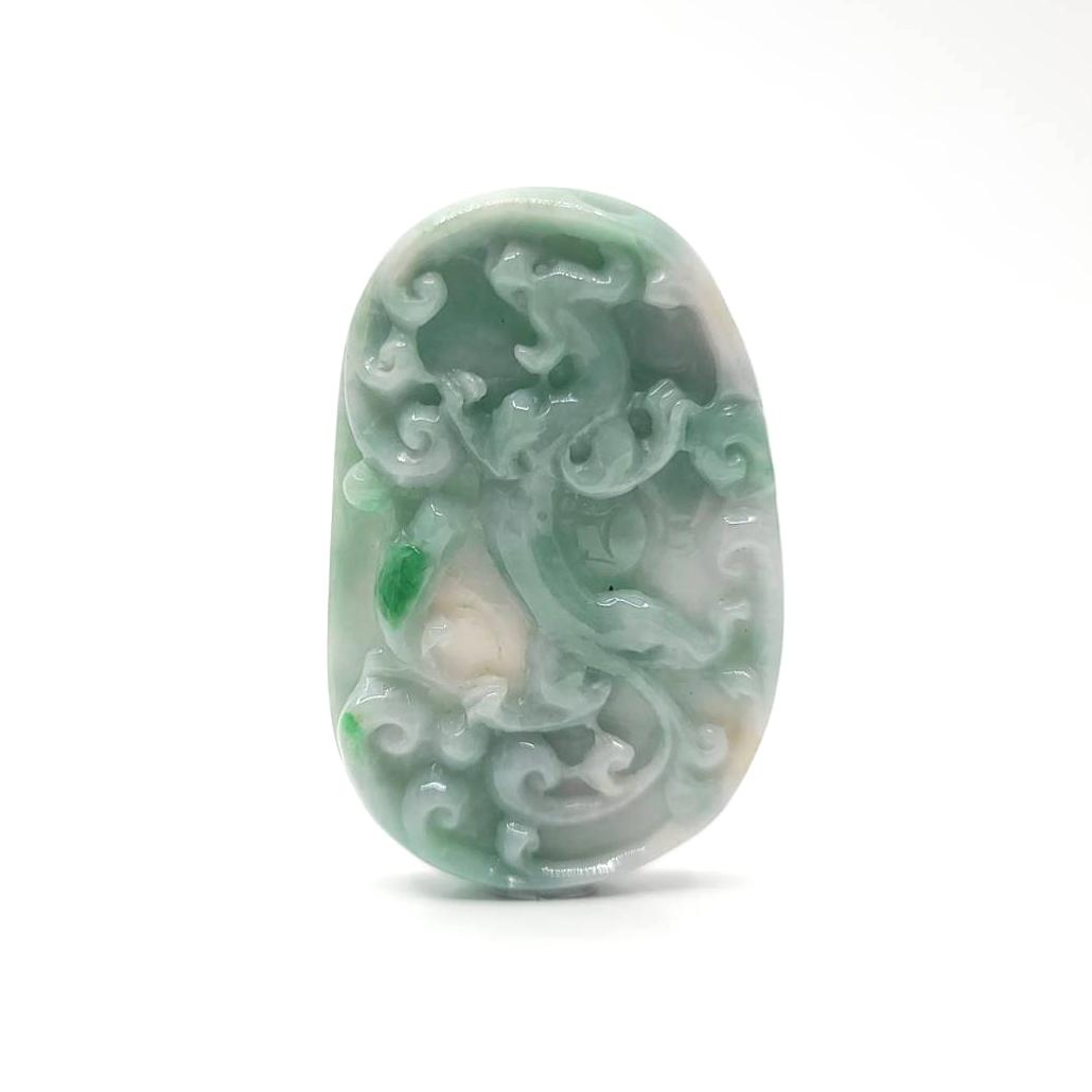 圖示-翡翠/祥龍獻瑞吊墜(Jadeite Pendant)