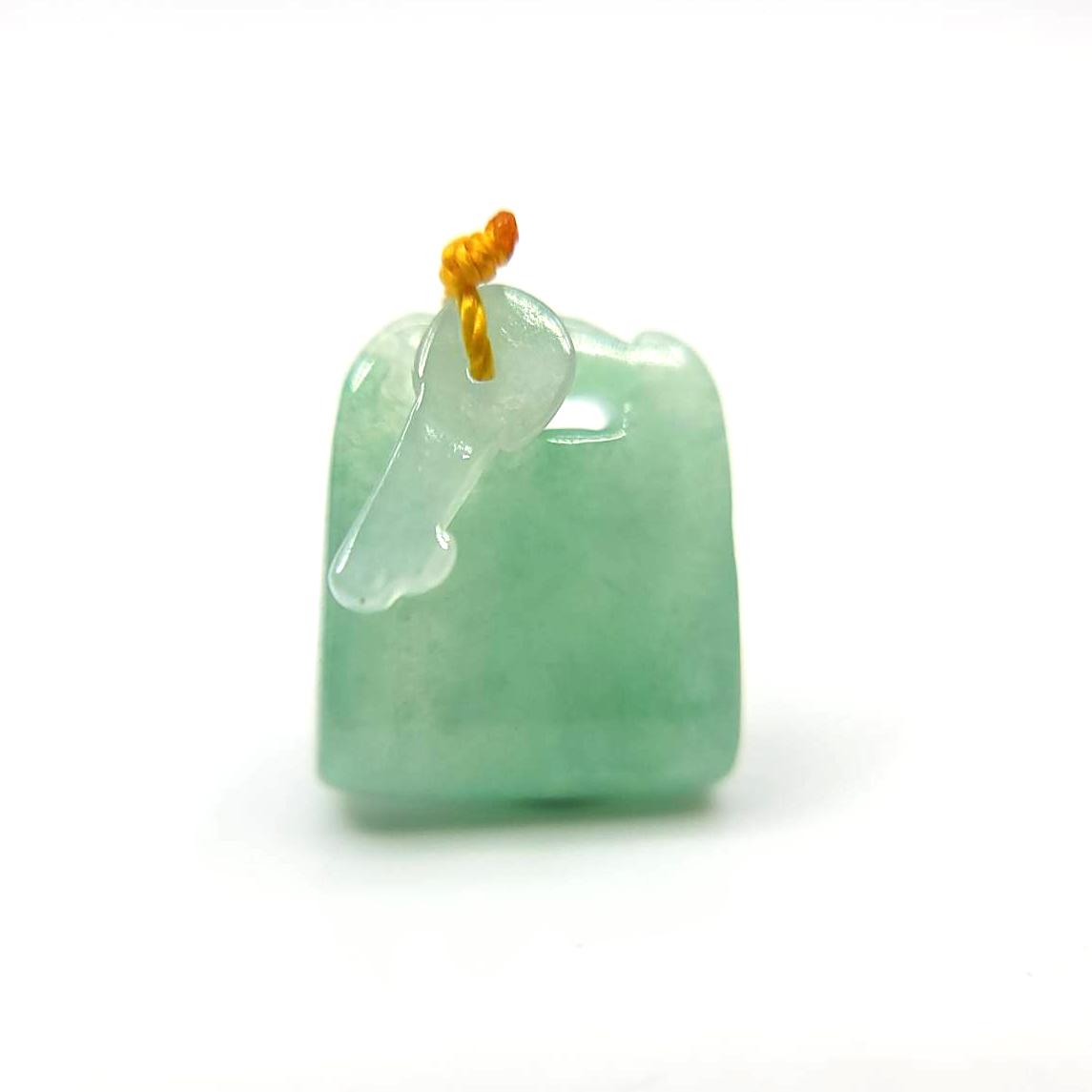 圖示-翡翠/心鎖冰種吊墜