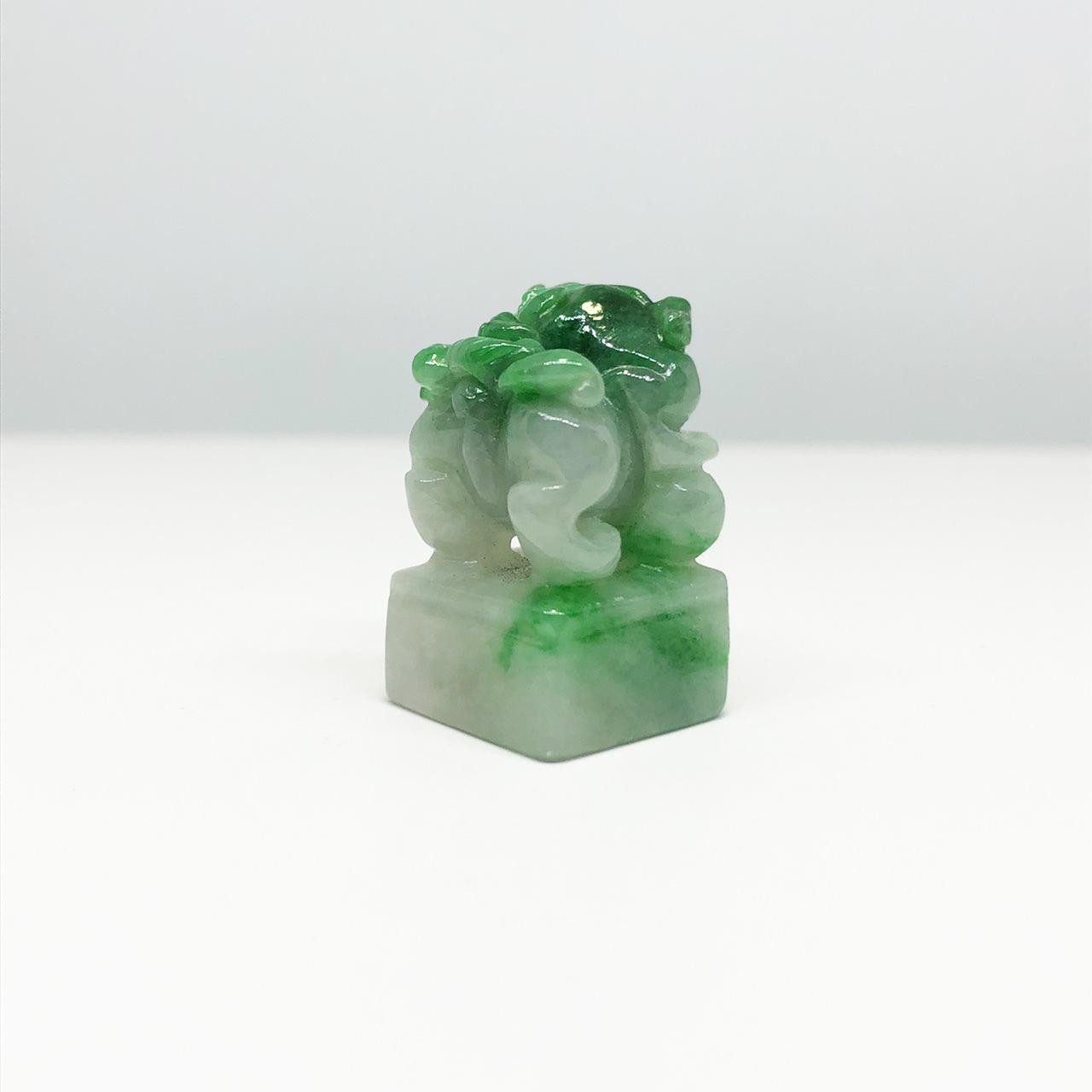 翡翠印材/招財進寶(Jadeite)