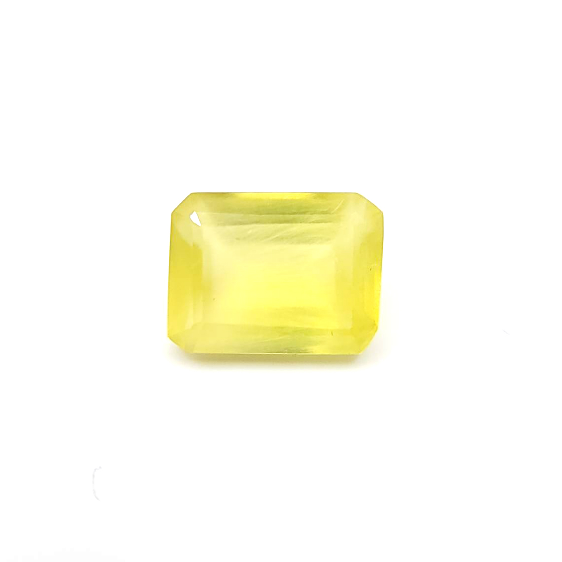 圖示-黃色葡萄石裸石(Prehnite)