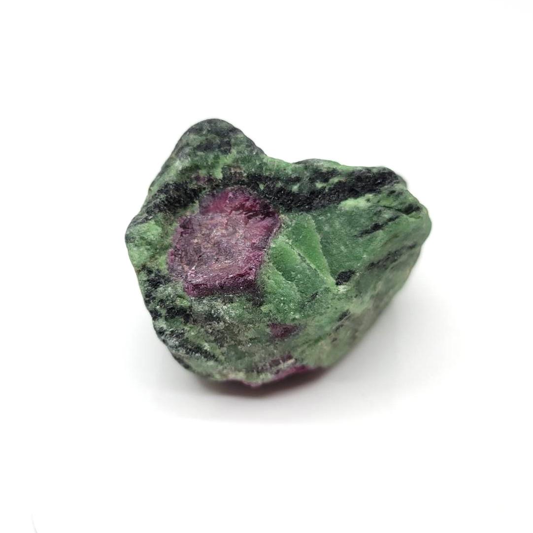 紅寶石和黝簾石共生(Ruby)