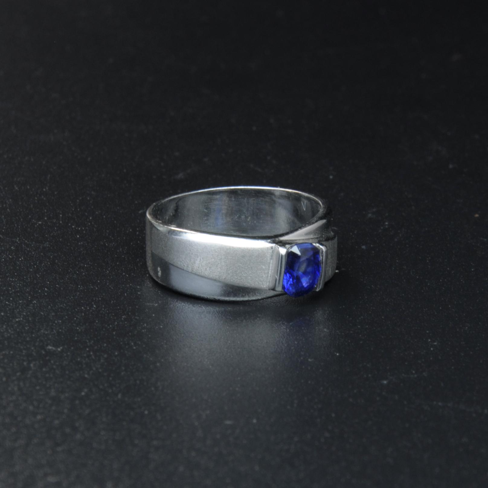圖示-藍寶白K金戒指(Sapphire Ring)